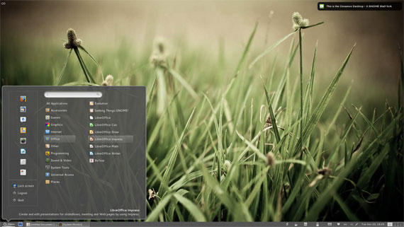 cinnamon GNOME Shell fork Linux Mint