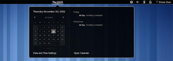 Kalendar u GNOME Shellu