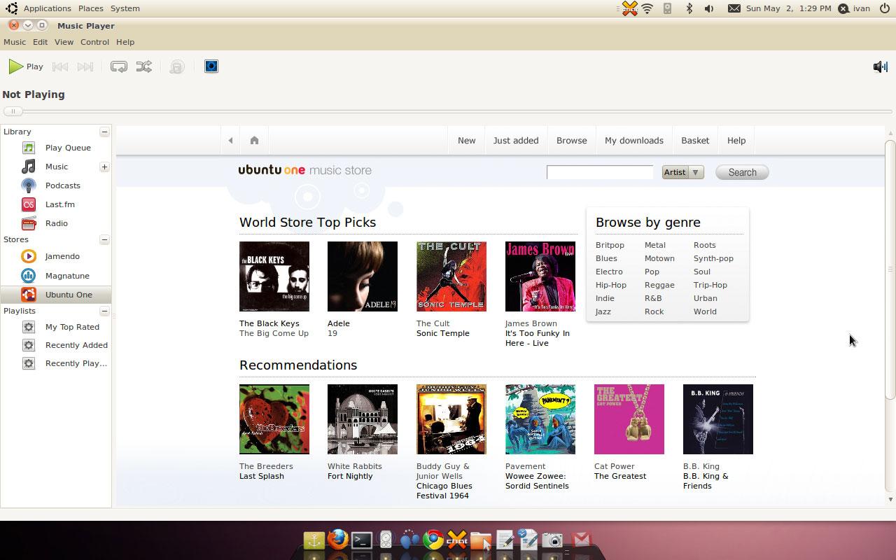 Ubuntu 10.04 LTS Lucid Lynx Desktop