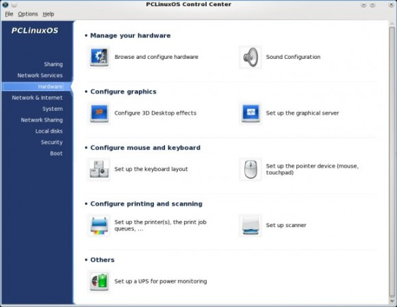 PCLinux OS Control Center