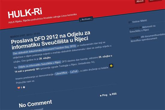 Proslava DFD 2012 na Odjelu za informatiku Sveučilišta u Rijeci