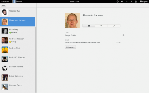 Contacts GNOME 3.4