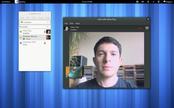 Empathy video call GNOME 3.4