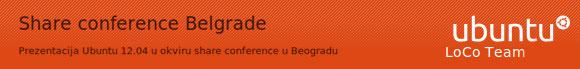 Prezentacija Ubuntu 12.04 u okviru share conference u Beogradu
