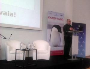 Marko Rakar drži predavanje na DORS/CLUC 2012