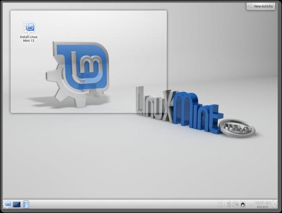 Mint 13 KDE desktop