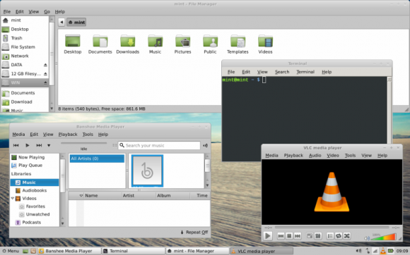 Mint 13 Xfce edge tilling