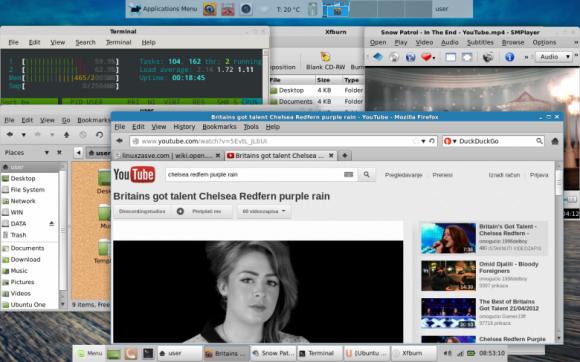 Mint 13 Xfce final desktop 2