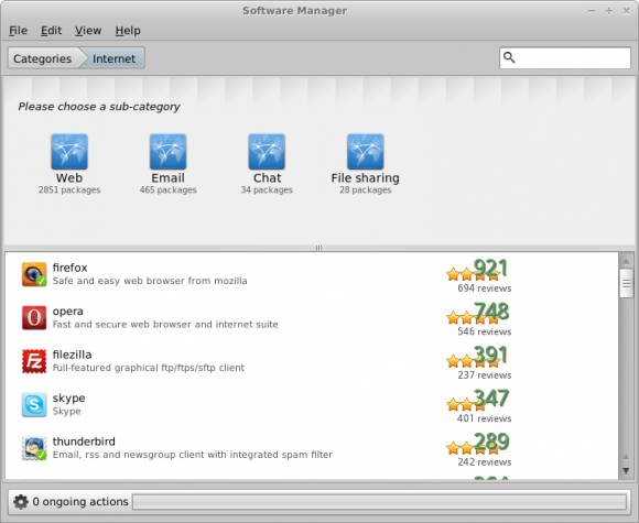 Mint Xfce Software Manager