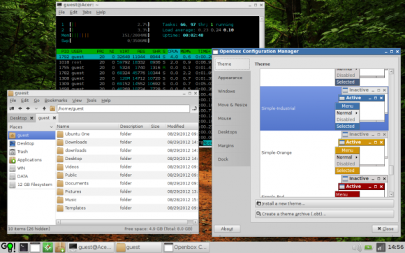 wattOS - PCManFM i Openbox Configuration Manager
