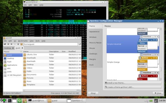 wattOS - PCManFM i Openbox Configuration Manager