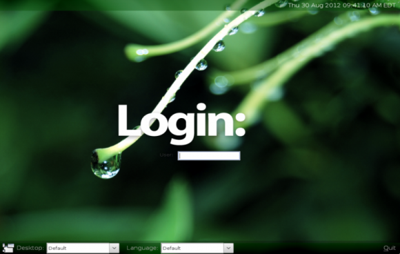 wattOS login window