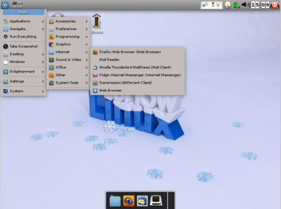 Snow Linux - Desktop i meni