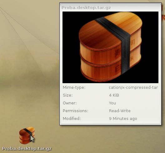 Bodhi - Prikaz ikone na desktopu