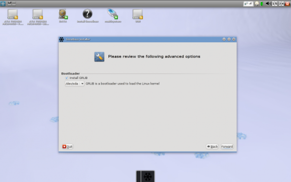 Snow Linux - Instalacija GRUB-a