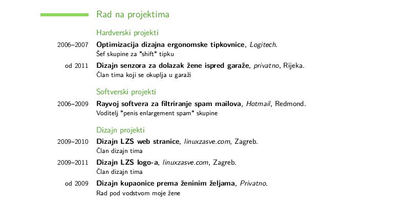 Latex Zivotopis Na Linux Nacin Linux Za Sve