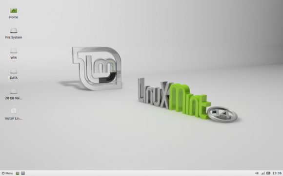 Mint 14 Xfce - Live desktop