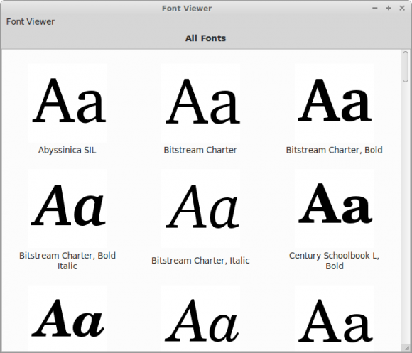 Mint 14 - Font Viewer