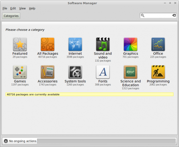Mint 14 Xfce - Software Manager