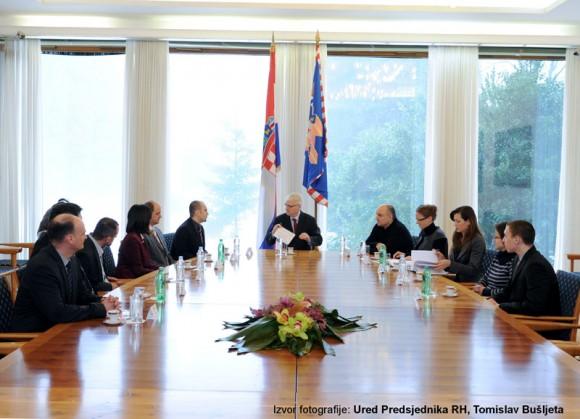 Izaslanstvo HrOpena i HULK-a na sastanku kod Predsjednika RH, prof. dr. Ive Josipovića