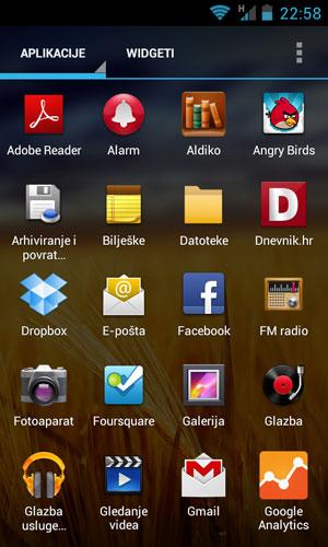 ZTE Blade III izbor aplikacija
