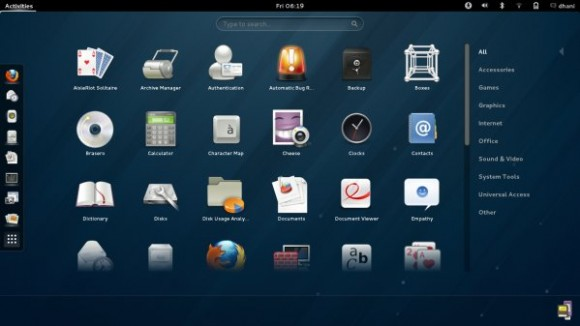 Fedora 18 GNOME