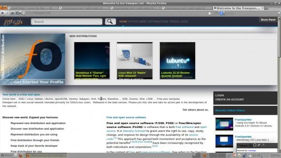 freeOpen.net početna stranica