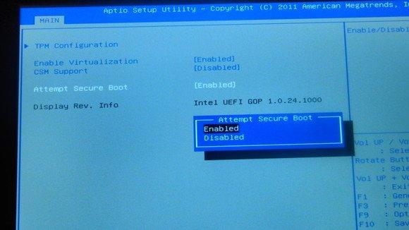 Većina računala sa Secure Bootom imaju ovu opciju. Ali ipak upozorenje: neka nemaju!