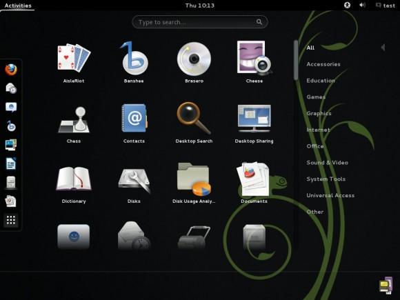 openSUSE 12.3 GNOME desktop