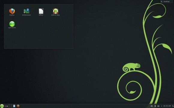 openSUSE 12.3 KDE desktop
