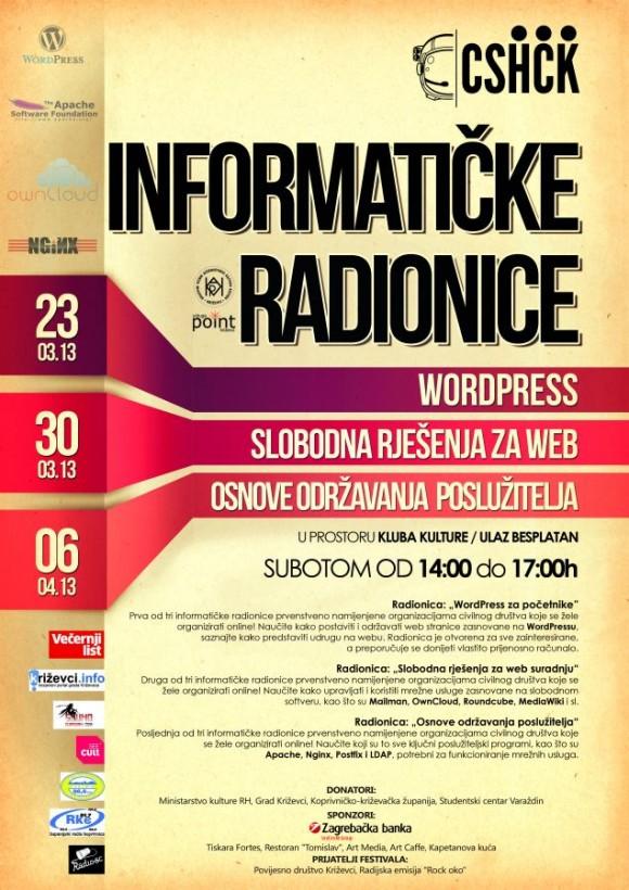 Plakat informatičke radionice na 9. Culture Shock Festivalu