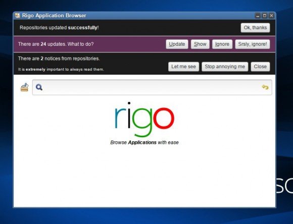 Rigo se brine za instalaciju programa, updateove i rad s repozirotijima