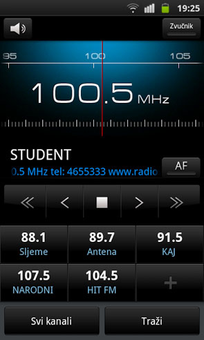 Samsung Galaxy S radio