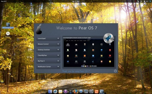Pear Linux 7 - Welcome to Pear OS 7 - Launchpad