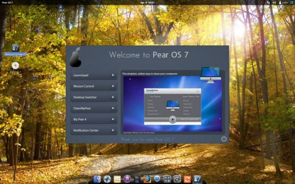 Pear Linux 7 - Welcome to Pear OS 7 - Clean My Pear