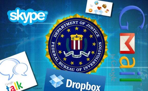 FBI Gmail Gtalk Dropbox Skype