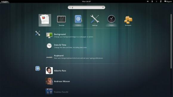 GNOME 3.8 pretraga