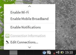 Prije pokretanja Wammua u Network Manageru isključite mobilni internet