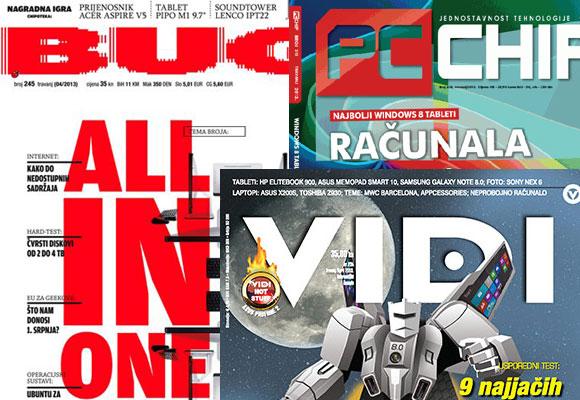 Linux u domaćim IT časopisima, travanj 2013