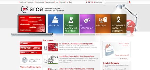Sveučilišni računski centar (Srce) - web stranica