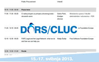 DORS/CLUC 2013 Raspored događanja