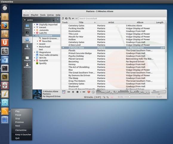 Clementine na Ubuntu Linux distribuciji