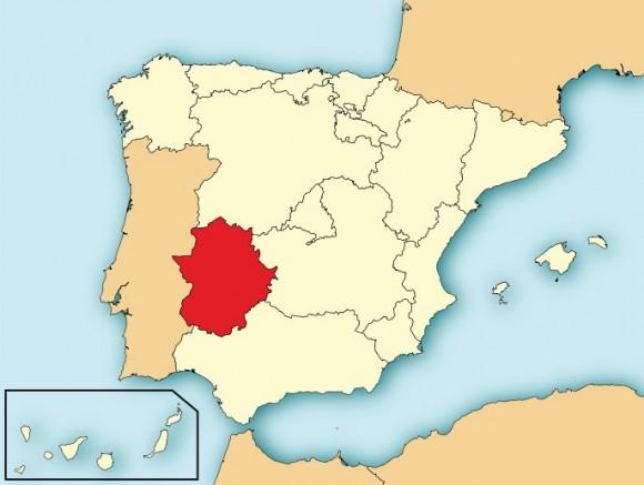 Španjolska autonomna regija Extramadura. (Slika je preuzeta s WIkipedije)