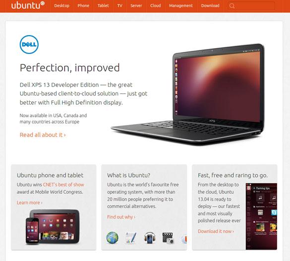 Ubuntu web stranice