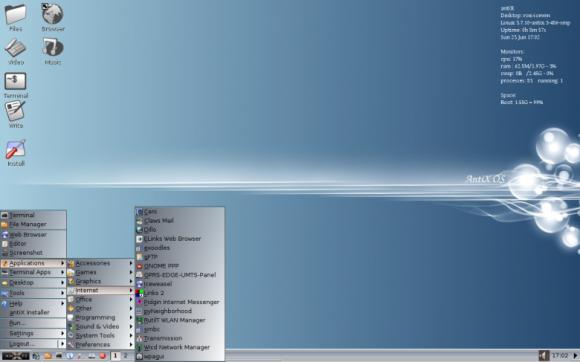 antiX live desktop