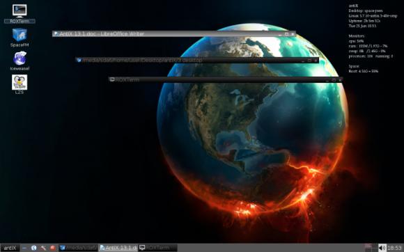 antiX desktop