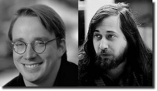 Linus Torvalds i Richard Stallman