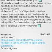 Pregled komentara u LZS aplikaciji