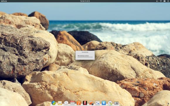 Početak instalacije OS-a .. jednostavno i nenametljivo