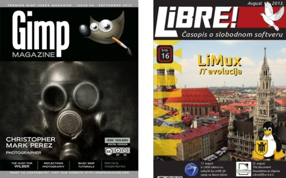 Naslovnice, Gimp Magazine br. 4 & Libre br. 16
